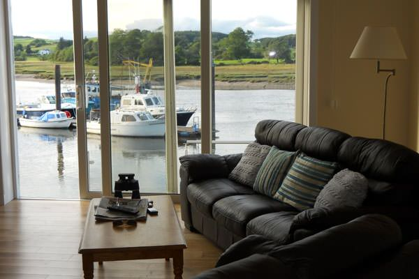 View from the sitting room in The Boathouse