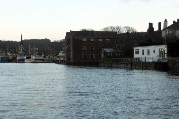 View towards the harbour past The Boathouse